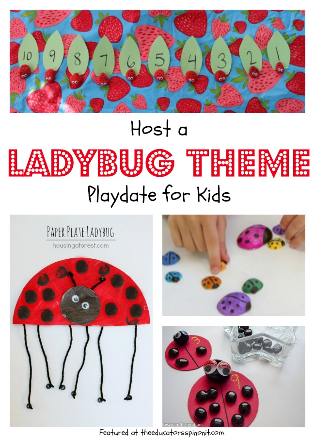 Host a Ladybug Themed Playdate for your kids and friends. Make, learn, and read ladybugs