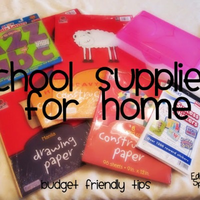 Time to Shop for School Supplies for home