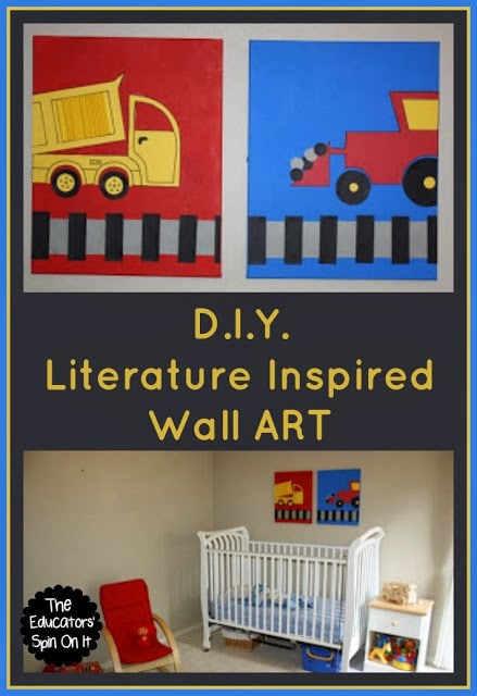 DIY Wall Art for Kids Inspired by Books