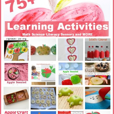 Apple Theme Preschool Activities for Math, Reading & More!!!