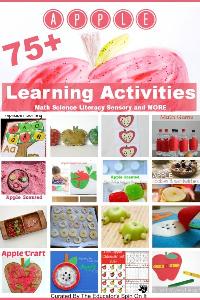 Apple Themed Learning Activities for Preschoolers