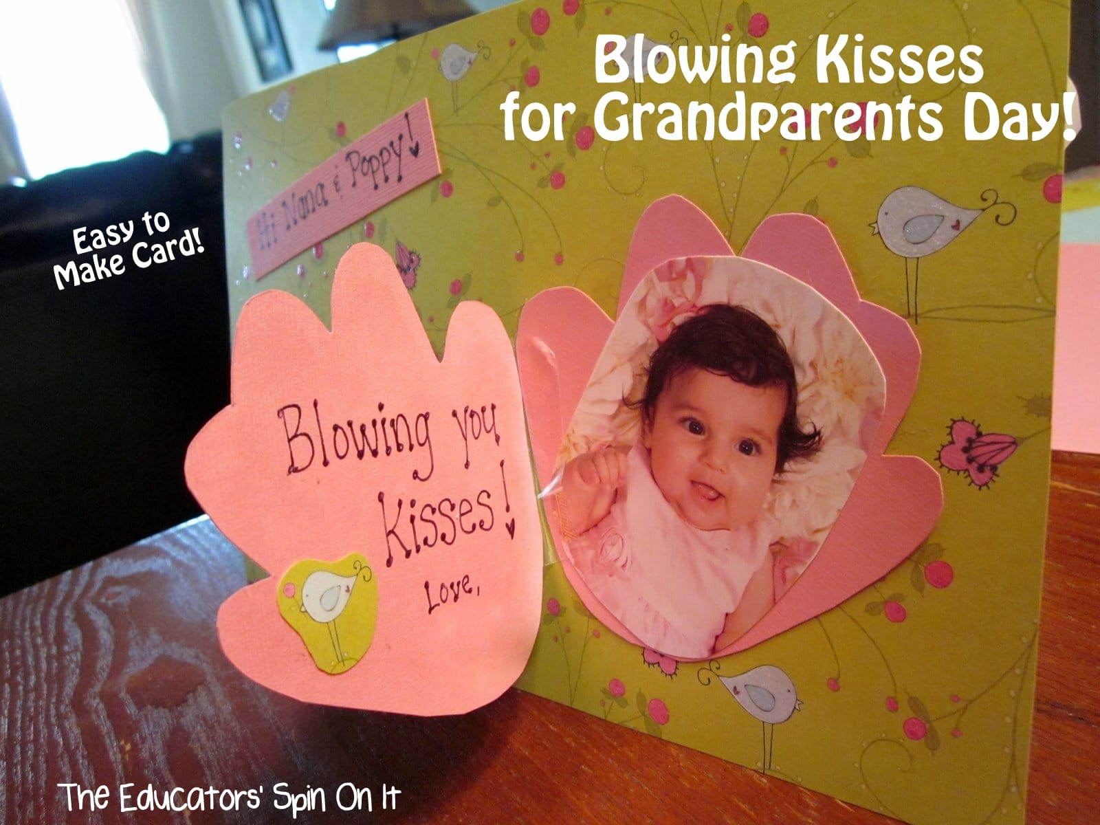 Card Making Ideas For Grandparents Day Part - 18: Grandparents Day Gift Idea With Handprint Card From The Educatorsu0027 Spin On  It