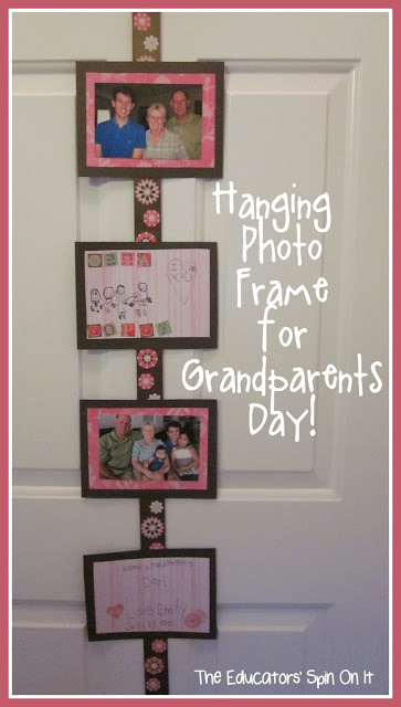 Hanging Photo Frame for Grandparents Day from The Educators' Spin On It