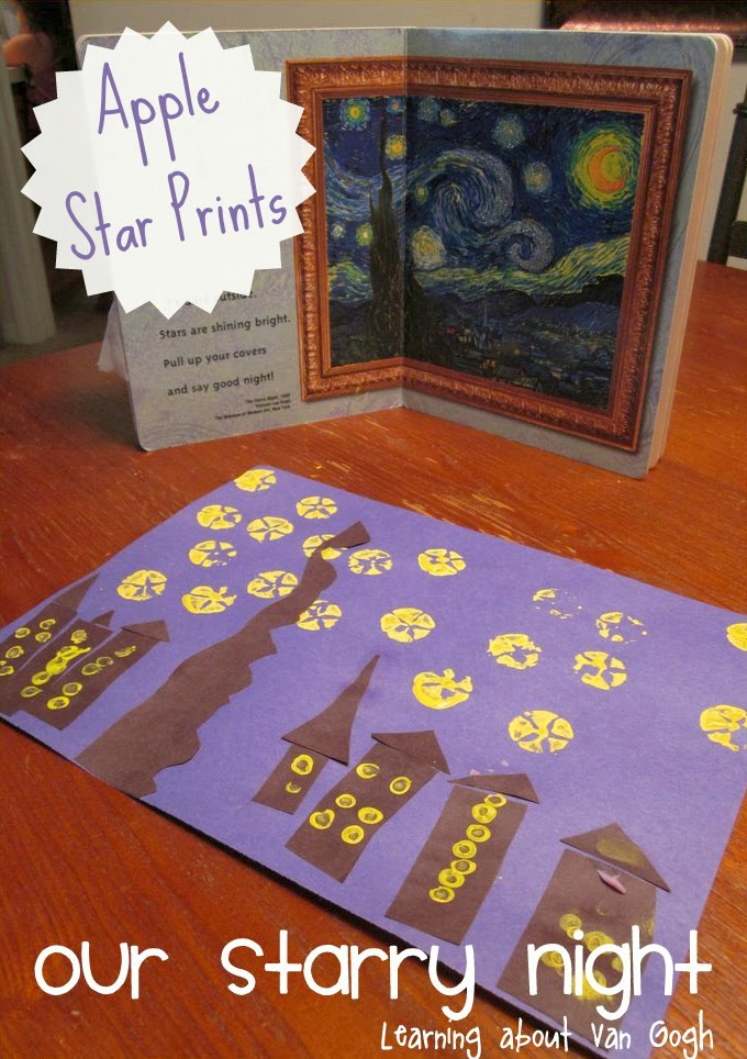 child made starry night by van gogh
