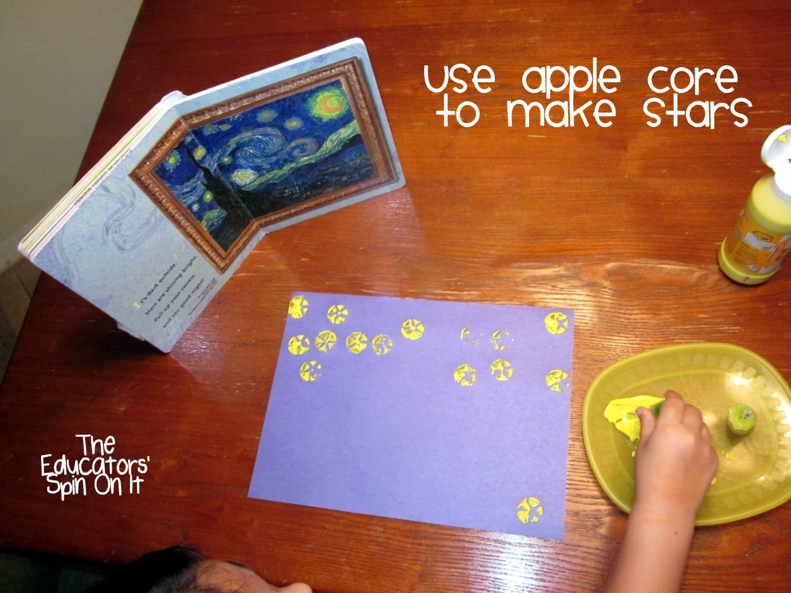Using apple cores to make stars