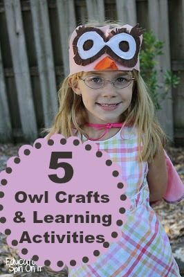 Owl Crafts and Learning Activities