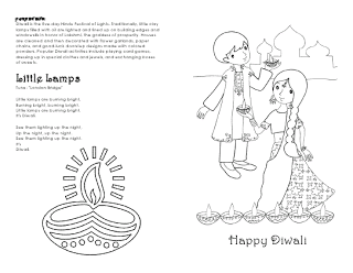 Diwali Coloring Sheet