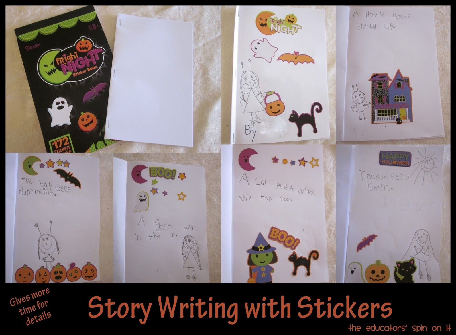 halloween story writing the educators spin on it she even has another idea chosen for her next story the same stickers