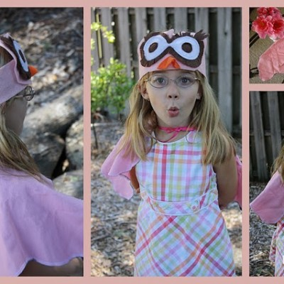 Whoooo wants to make an owl costume for pretend play or Halloween?