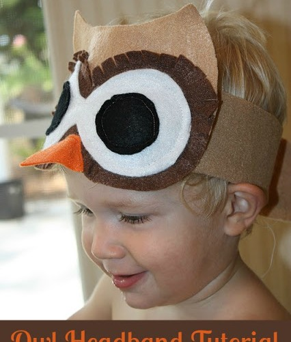 Owl headband sewing tutorial for kids