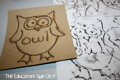 Owl Crafts and Learning Activities: : rubbing plates
