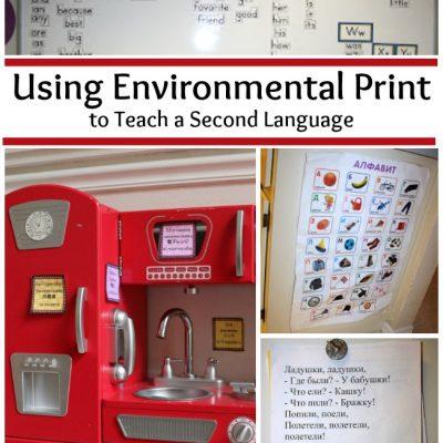 Using Environmental Print to Teach a Second Language