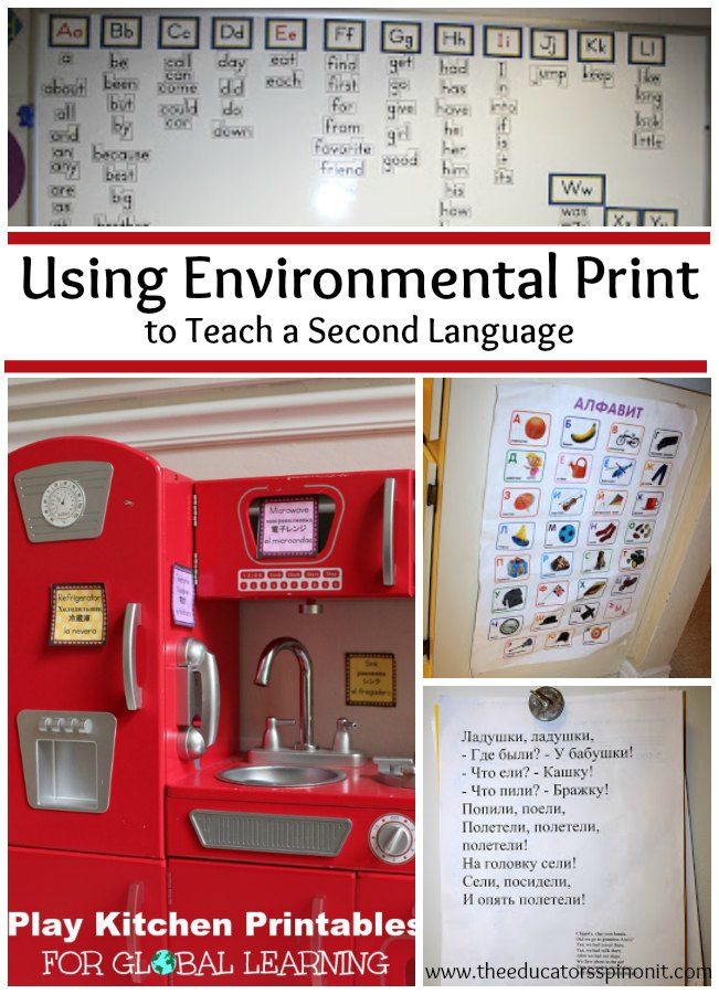 Using Environmental Print to Teach a Second Language