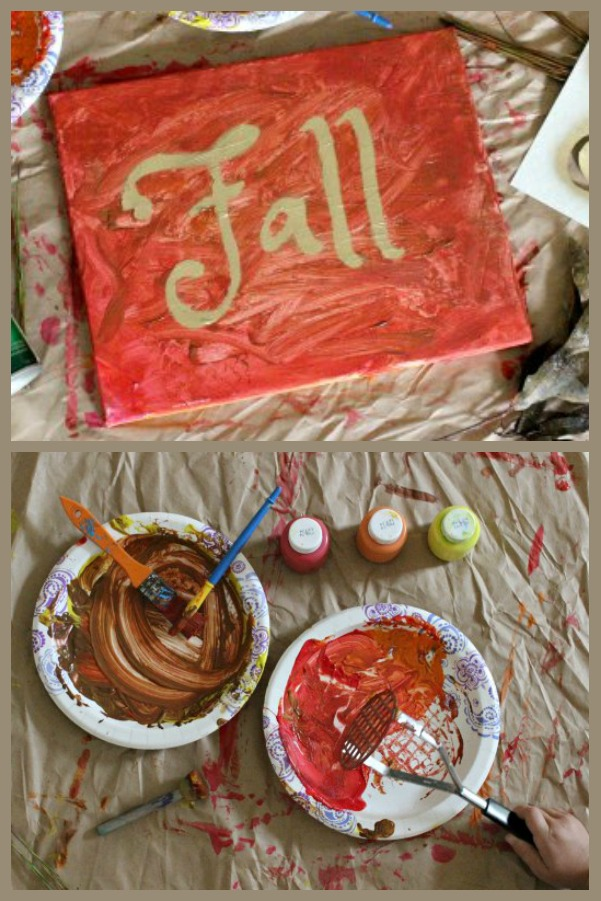Tot School Make a Fall Painting with Your Toddler this Autumn