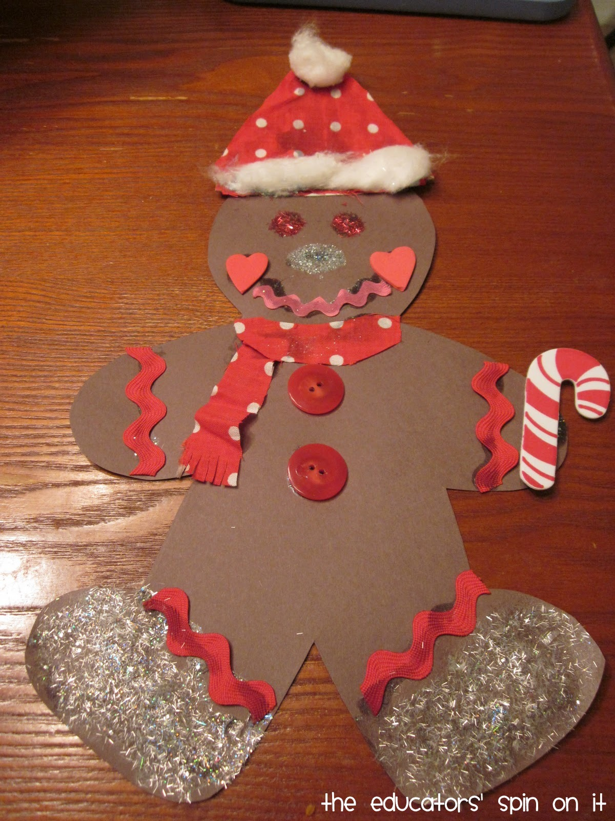 Christmas crafts and activities for kids the educators for Christmas crafts out of paper