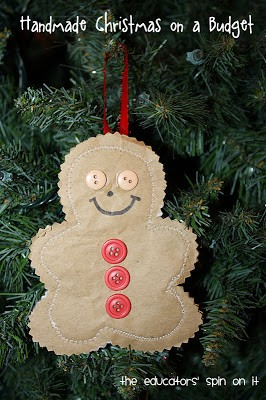 DIY Gingerbread Man Ornament – Christmas Kid Craft