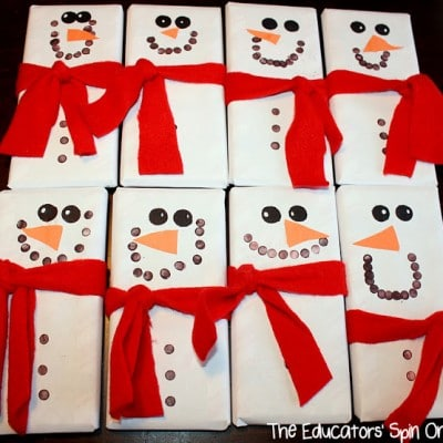 Snowmen Candy Bars Make Great Teacher Gifts