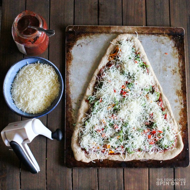 Kale Christmas Tree Pizza