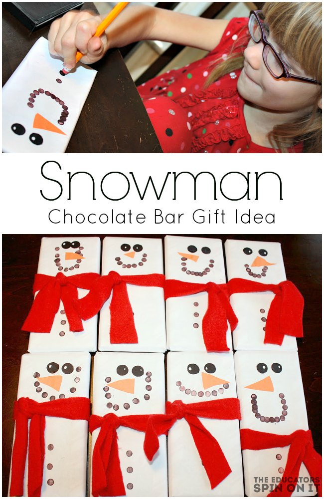 Snowman Chocolate Bar Gift Idea