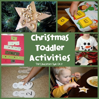 Easy Ornaments for Toddlers plus books and special snowman T-Shirt and fun idea for Tot School