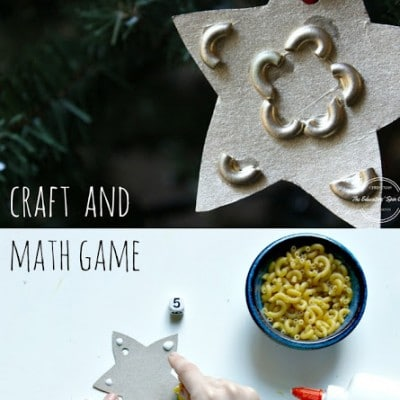 DIY Kids-Made Star Ornament and Math Game