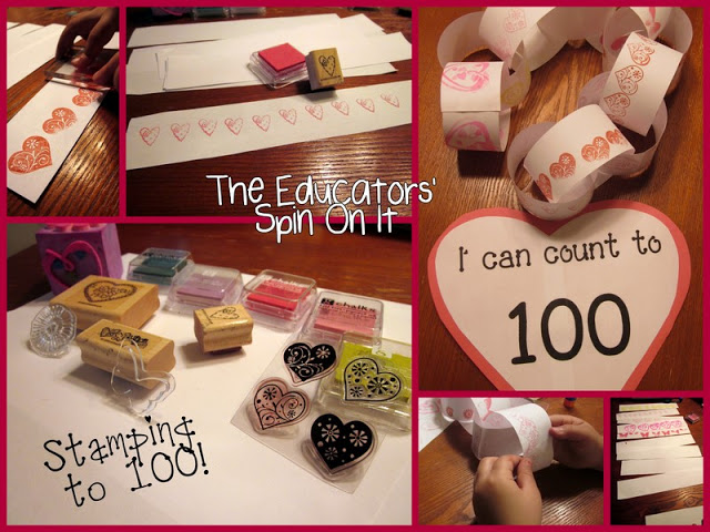 100 Day of School Activities with Seeds for Winter Birds and Stamp Activity from the Educators' spin On It