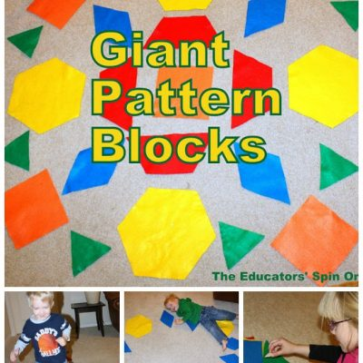 Giant Pattern Blocks – Teaching Math to Tots with Movement