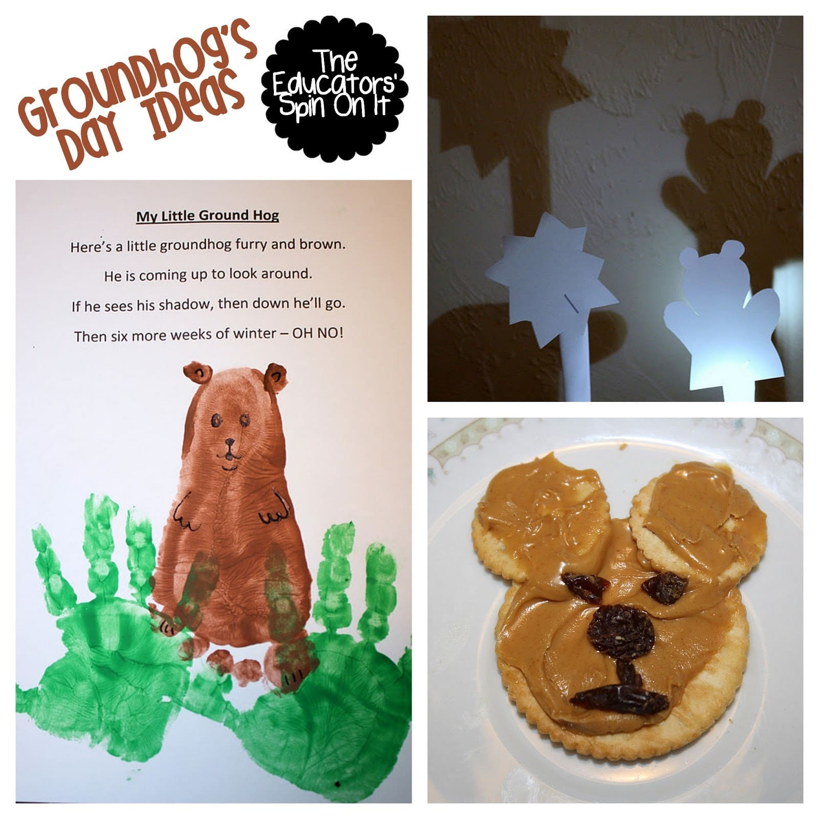 groundhog day craft ideas groundhog day ideas for the educators spin on it 4586