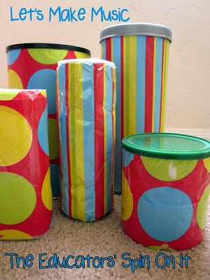 making Musical Instruments with Recycled Containers