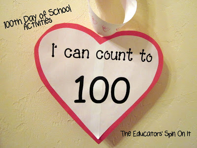100 Day of School Activities frrom Educators' spin On It