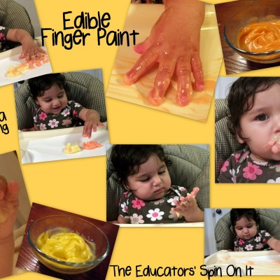 Baby Time: Edible Finger Paint