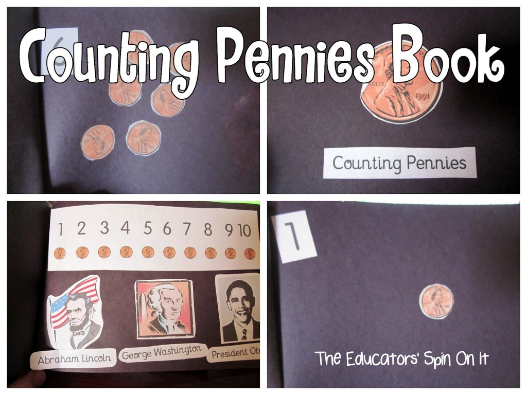 Counting Pennies Book for Presidents Day