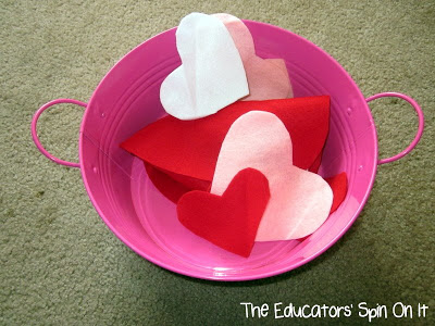 Felt Hearts for Valentine's Day Activities for Babies and Toddlers from The Educators' Spin On It