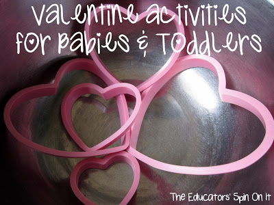 Cookie Cutter Fun for Valentine's Day Activities for Babies and Toddlers from The Educators' Spin On It