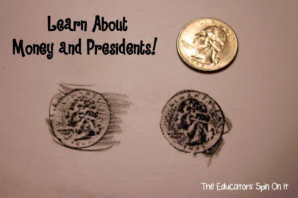 Coin Rubbing activity for presidents day craft for kids