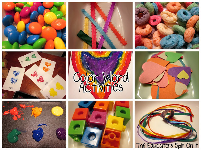 Color Word Activities for Kids from The Educators' Spin On It
