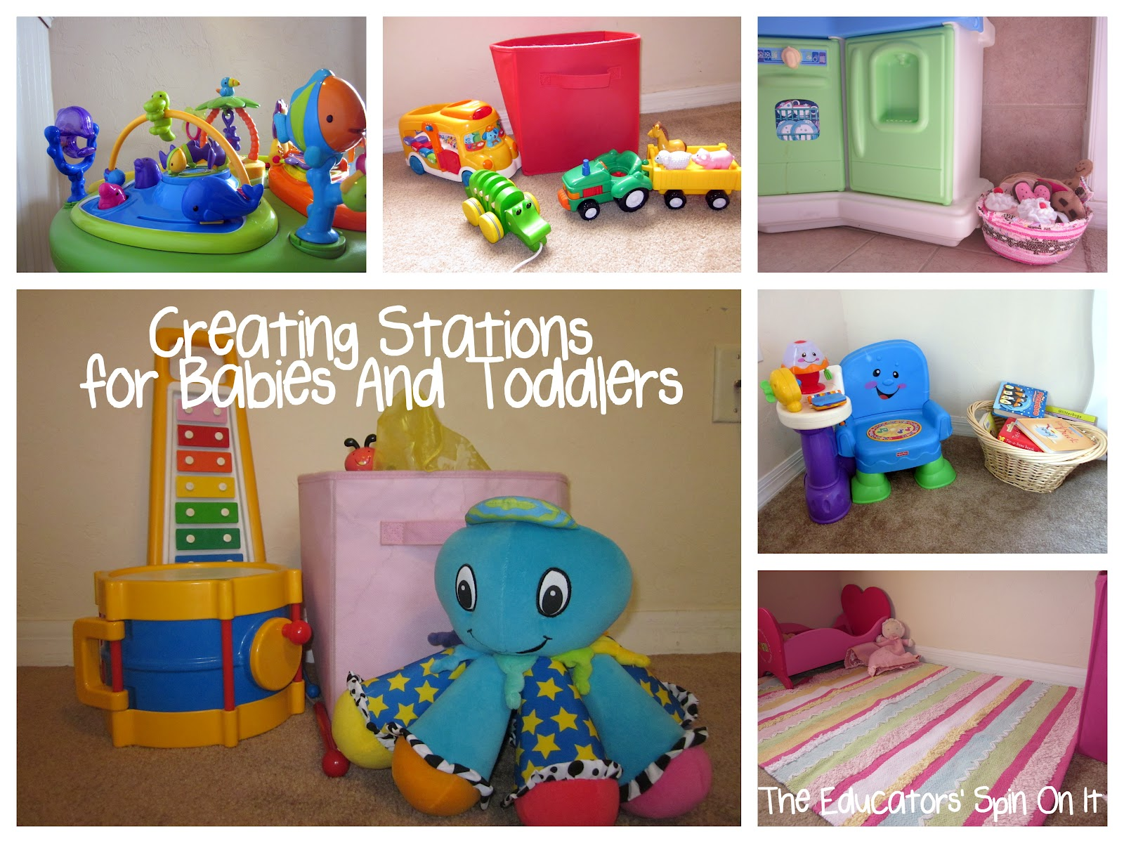 Day Care Toys : Ideas for creating and storing toy stations the