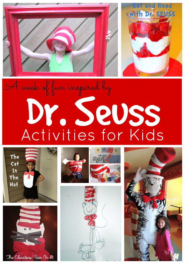 Dr Seuss Themed Activities for Kids from The Educators' Spin On It