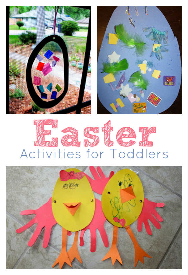 Easter themed crafts with eggs and chicks for toddlers