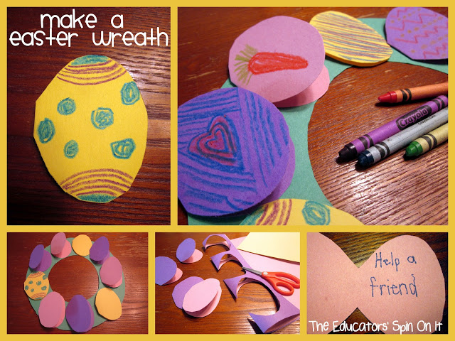 Easter Egg Wreath for Easter using Acts of Kindness