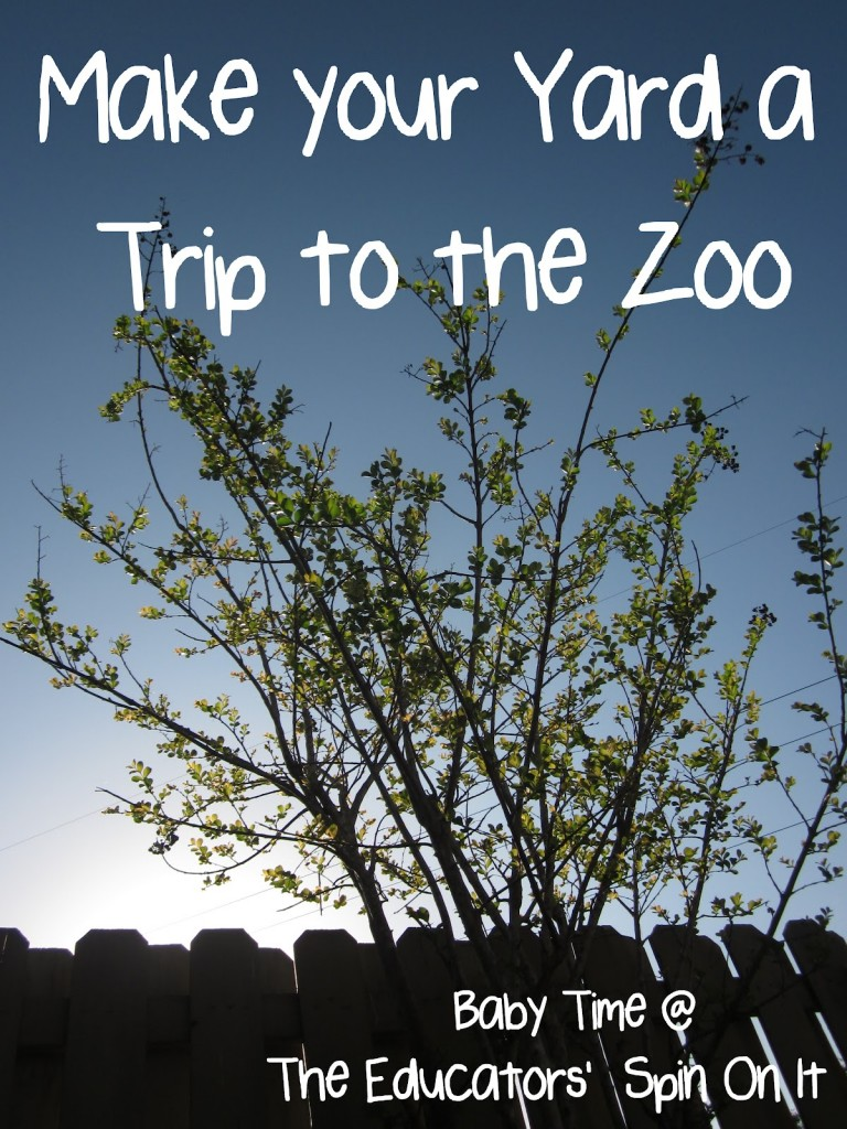 How to make your yard a trip to the zoo for your baby or toddler