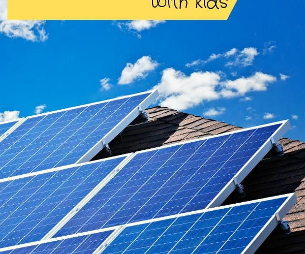Solar Panels on House for kids to learn about the sunshine and solar energy