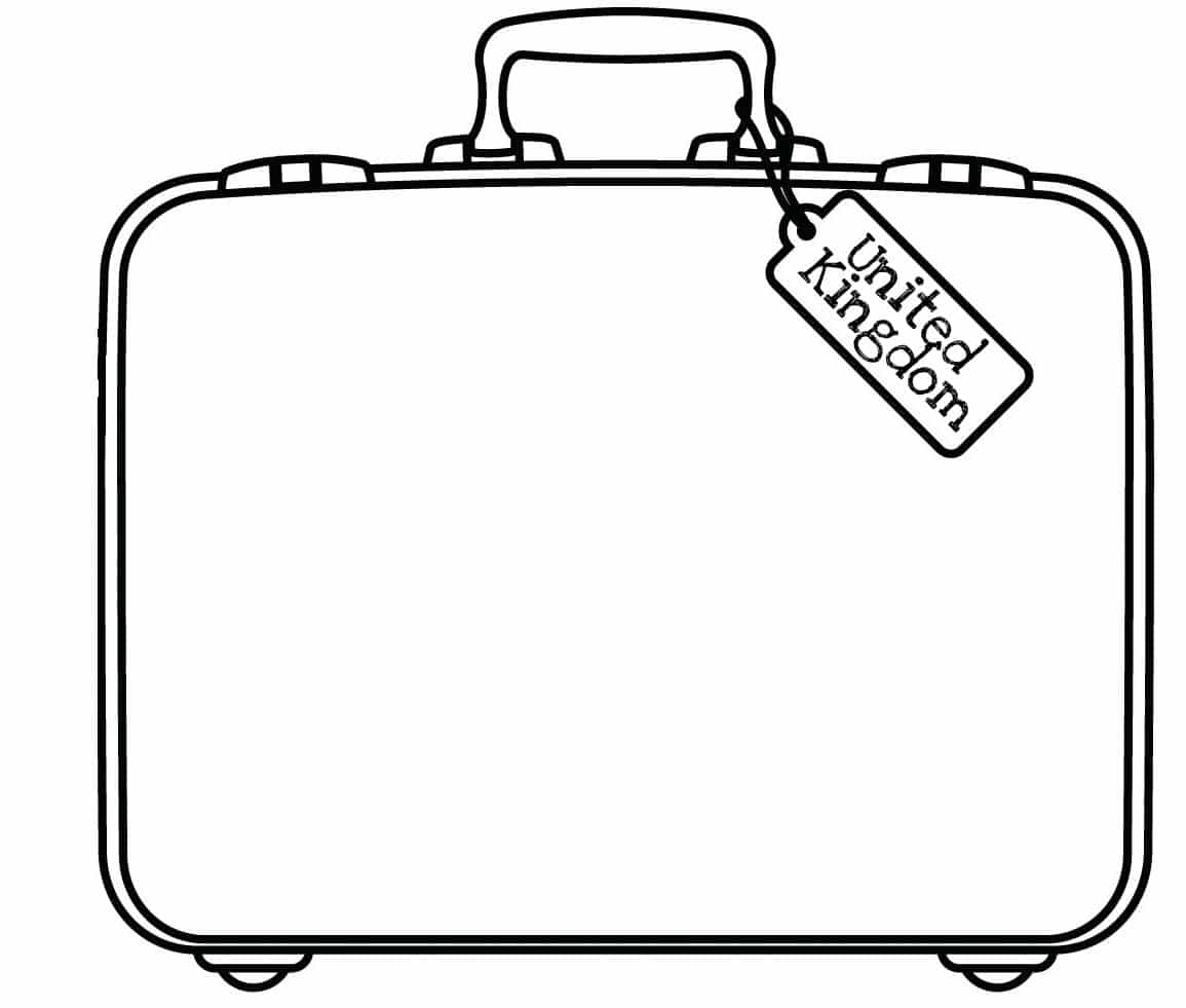 clip art passport coloring page mycoloring free printable