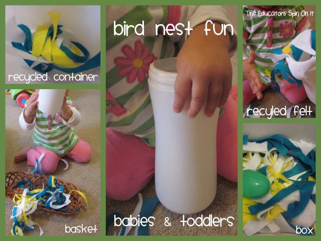 toddler making easter chick birds next from felt pieces
