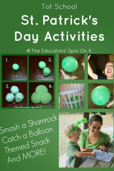 Saint Patrick's Day Smash a Shamrock activity and more