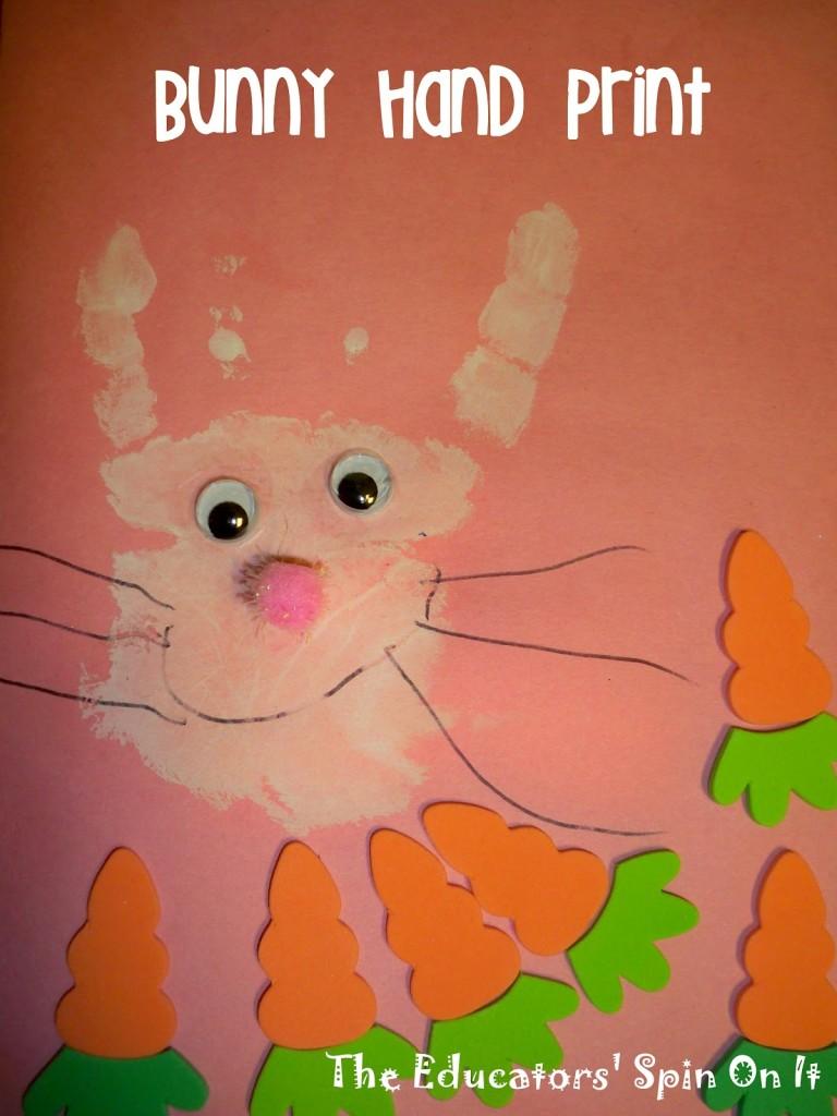 bunny handprint craft for kids
