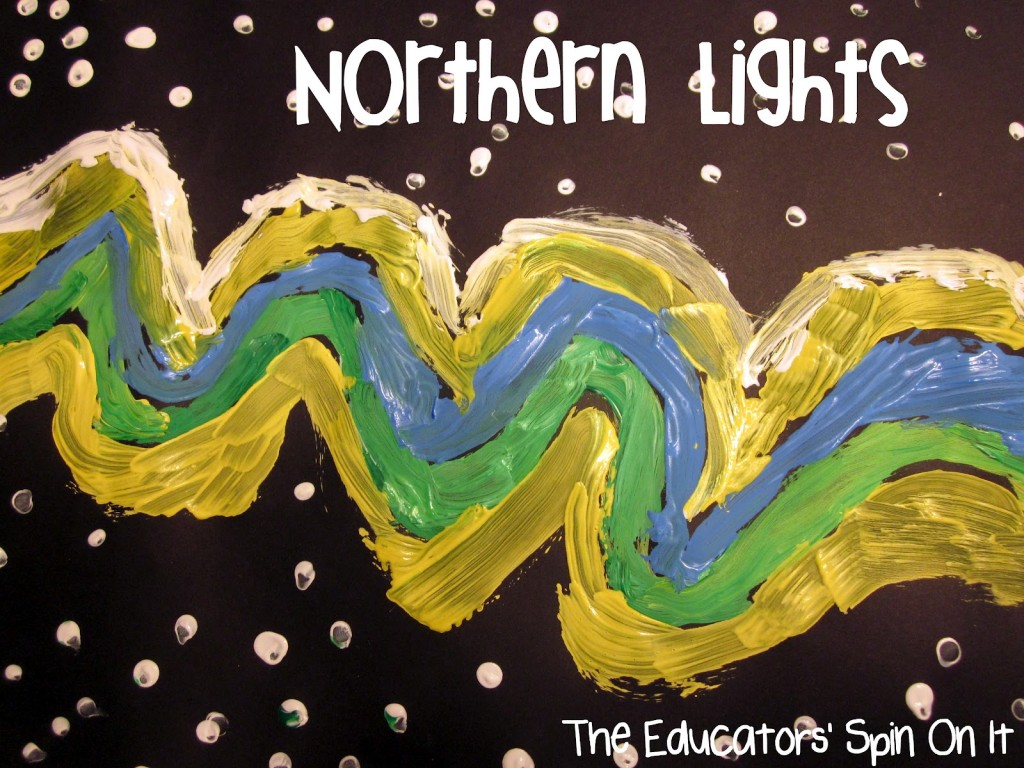 Northern Lights Art Project for Kids