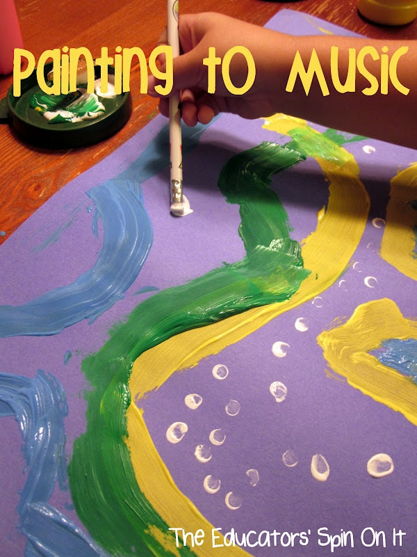 Painting Northern Lights with Kids through Art and Music