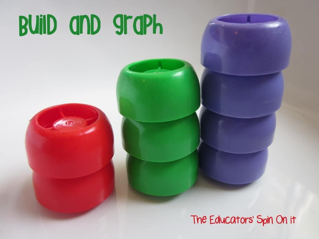 Graphing with lids! 8 Activities for Kids with Lids!