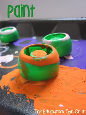 Art Activities for Kids with Lids from The Educators' Spin On It